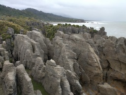 "The famous ""Pancake Rocks"""
