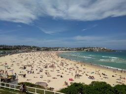 Bondi beach is the busiest beach we've been on this trip so far