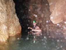 Caving in flip flops? Why not! Oh, BTW, you may get a little wet.
